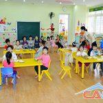 Giặt ghế các trường mầm non ở Dương Nội