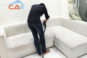 Giặt ghế sofa gia đình chung cư quận Cầu Giấy